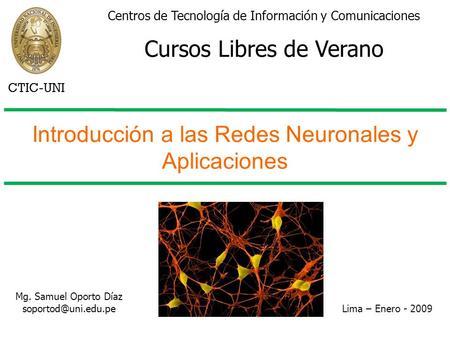 Introducción a las Redes Neuronales y Aplicaciones