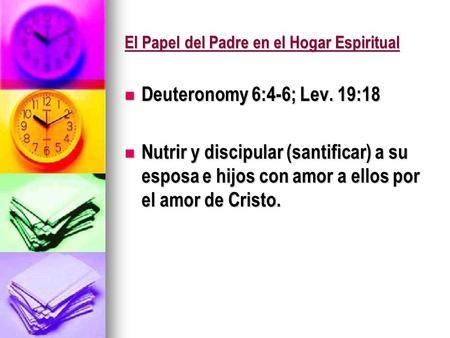 El Papel del Padre en el Hogar Espiritual
