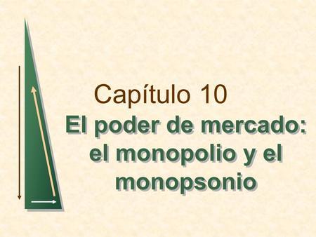 Capítulo 10 El poder de mercado: el monopolio y el monopsonio.
