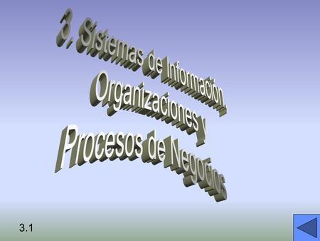 3.1. FACTORES MEDIADORES: Entorno Cultura Estructura Procedmientos estándar Politica Decisiones Gerenciales Casualidad Organizaciones y los Sistemas de.