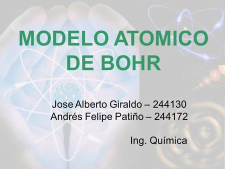 MODELO ATOMICO DE BOHR Jose Alberto Giraldo –