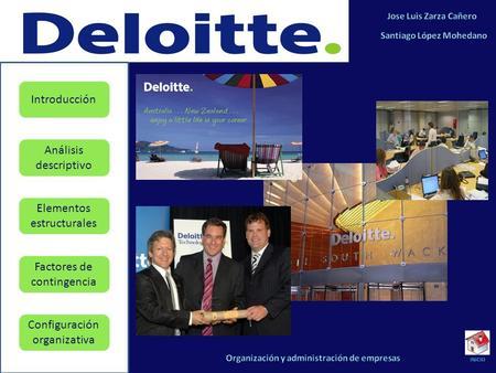 INTRODUCCIÓN Deloitte define sus actividades en el registro mercantil de la siguiente manera: Realizar toda clase de auditorias, totales o parciales de.
