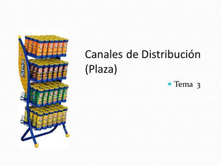 Canales de Distribución (Plaza) Tema 3. Canales de mercadeo Canal de Mercadeo Canal de Mercadeo Cadena de abastecimiento Cadena de abastecimiento Un grupo.