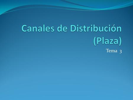 Tema 3. Decisiones estratégicas del canal Factores del productor Factores de producto Factores de mercado Factores que afectan la elección del canal Factores.