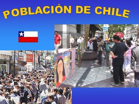 Chile es un país étnicamente homogeneo ya que El 80% de su población es de origen meztizo. Pero existe gran diversidad cultural en la población. ORIGEN: