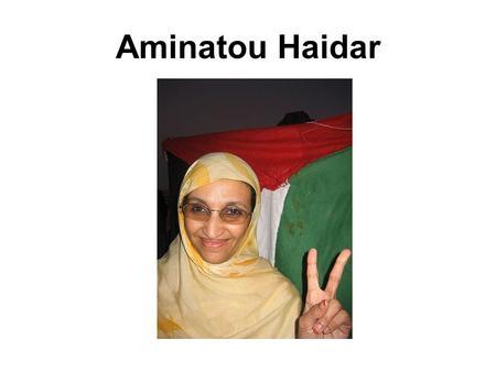 Aminatou Haidar. Sahara occidental ¿Dónde se localiza?