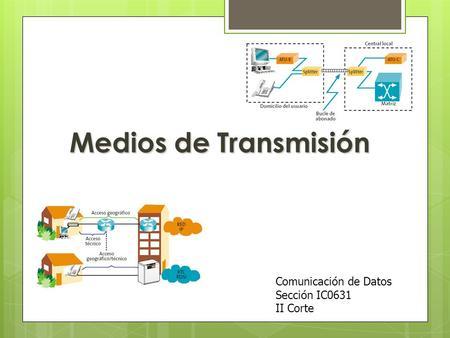 Medios de Transmisión Comunicación de Datos Sección IC0631 II Corte.