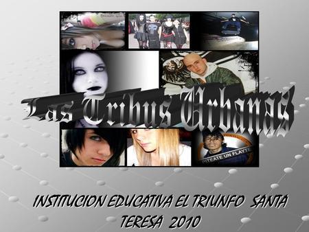 INSTITUCION EDUCATIVA EL TRIUNFO SANTA TERESA 2010.