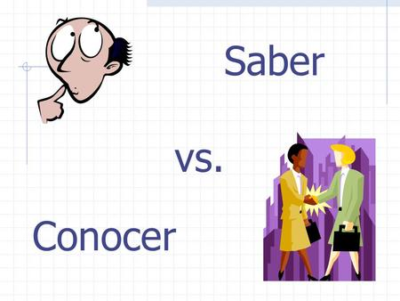 Conocer Saber vs. Both Saber and Conocer mean: To know… However, they cannot be used interchangeably.